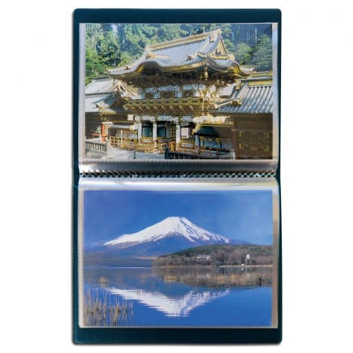 ROUTE Postcards pocket album for 40 postcards, with 20 integrated clear sheets