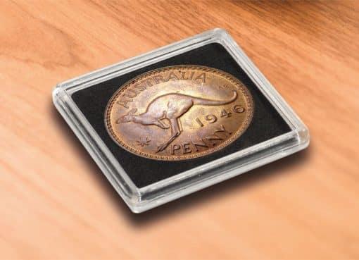 QUADRUM Intercept coin capsule, inside Ø 41 mm, black
