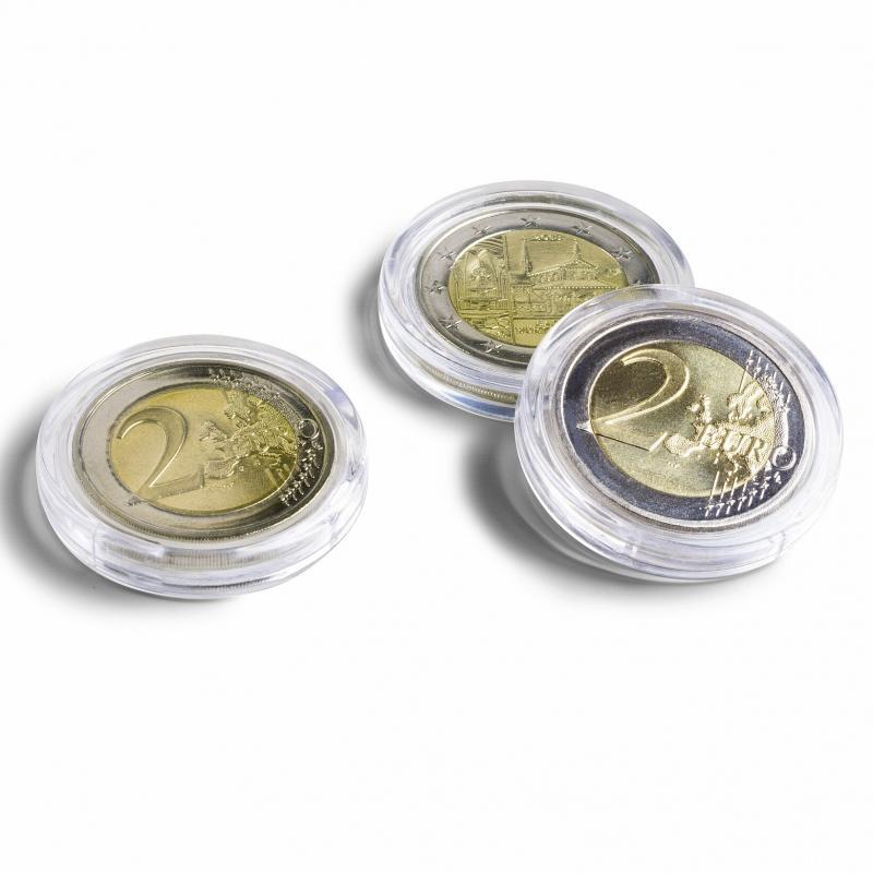 Leuchtturm 323405 coin capsules assortment for Euro-coins 16.5 until 33 mm 100 per pack