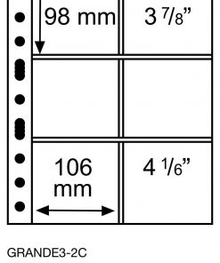 Plastic pockets GRANDE, with 6 pockets, 106×98 mm, clear
