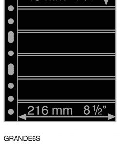 Plastic pockets GRANDE, with 6 horizontal stripes, black